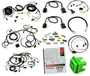 1970 Mustang Wiring Kit 351c W O Tach W O A C Mach 1 With Sport Lamps