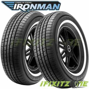 2 Ironman Rb12 Nws 195 75r14 92s White Wall All Season Performance Tires
