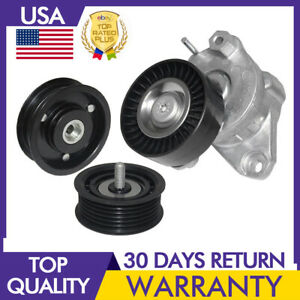 Mercedes Benz Belt Tensioner 2 Idler Pulleys Set 2720270 1419 1019 Drive Belt