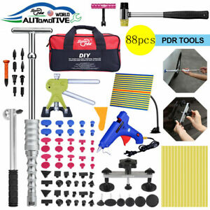 88pcs Pdr Tools Paintless Dent Puller Lifter Kit Hail Removal Repair Hammer Set