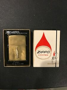 1972 Brass Coca-Cola Bottle Zippo Unfired In Original Box!!!