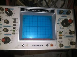 Leader Lbo 508a 20mhz Dual Trace Oscilloscope Tested Working