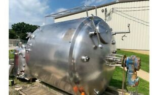 1000 Gallon Stainless Steel With Sweep Agitation And Jacketed
