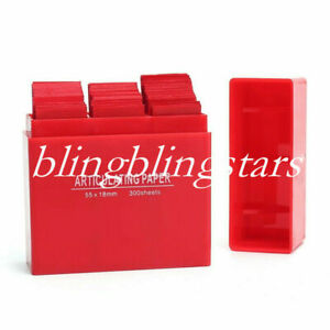 300 Sheets box Dental Articulating Paper Lab Product Teeth Care Red Color Strips