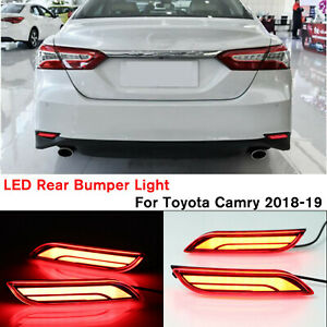 Us Car Led Light Rear Warning Bumper Brake Tail Lamp For Toyota Camry 18 19