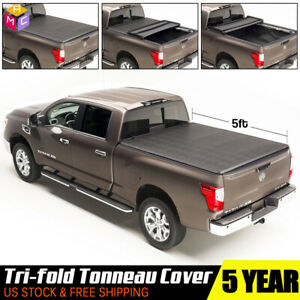 Truck Pickup Bed 5ft For 2015 2018 Nissan Frontier Soft Tri fold Tonneau Cover