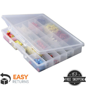 24 Compartments Portable Fixed Small Parts Clear Plastic Organizer Tool Storage