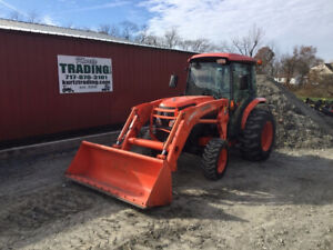 2008 Kubota L5240 4x4 Hydro Compact Tractor W Cab Loader Only 600 Hours