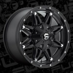 17x8 5 Et14 Fuel D531 Hostage 6x120 6x139 7 Matte Black Wheels Set Of 4