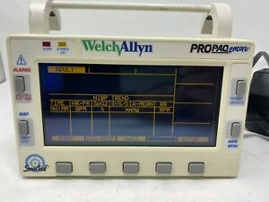 Welch Allyn Propaq Encore 202el Monitor no Power Cord Airforce Plane Rated