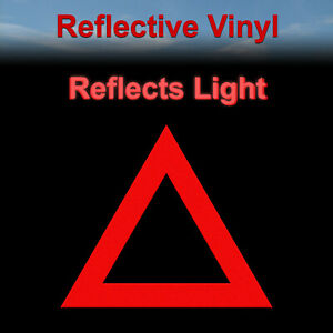 Reflective Triangle Safety Sticker Symbol Yield Decal
