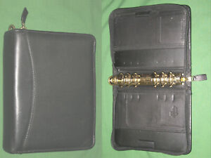Compact 1 25 Full Grain Leather Franklin Covey Planner Binder Organizer 2228