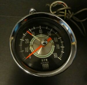 Sw 8k Tach Greenline Dash Mount Mustang Shelby Delux Mount Rat Rod