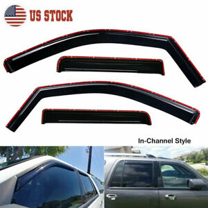 In channel Smoke Window Vent Visor For 97 17 Ford Expedition Lincoln Navigator