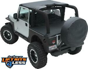 Smittybilt 90815 Black Denim Standard Top For 1987 1991 Jeep Wrangler Yj