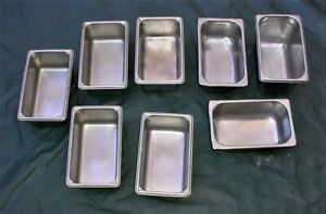 Lot 8 1 4 Size 4 6 Deep Stainless Steel Steam Table Salad Bar Catering Pans