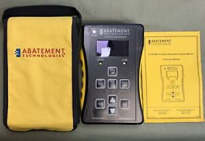 Abatement Tech Hcpdpm2 Portable Room House Differential Pressure Monitor Tester