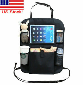 Car Back Seat Organizer With Phone Tablet Holder Touch Screen Pocket Storage Rf