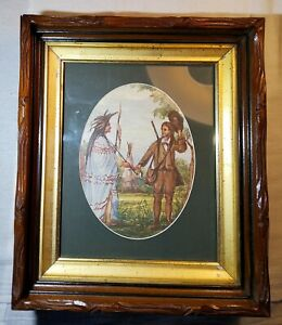 Antique Carved Walnut Shadowbox Picture Frame 1860 S 1870 S Probably 13 X 11