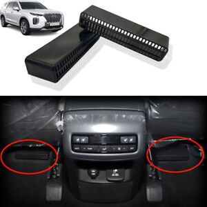 2x Car Rear Seat Air Condition Ac Duct Outlet Grille Cover For Hyundai Palisade