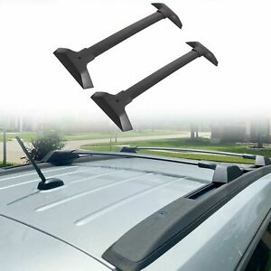 For 09 17 Chevy Traverse Pair Aluminum Oe Style Bolt on Roof Rack Rail Cross Bar