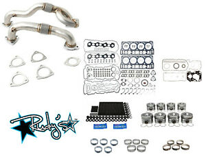 Rudy S Engine Overhaul Kit W Up Pipes 2008 2010 Ford 6 4 Powerstroke Super Duty