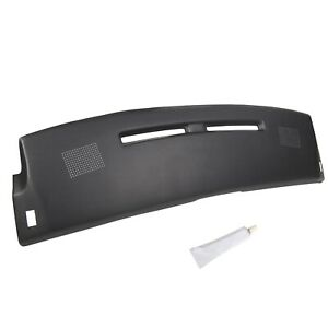 New Black Carpet Dash Board Cover Pad Overlay For 1984 1992 Chevy Camaro
