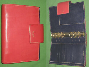 Compact 1 0 Red Leather Kate Spade Personal Planner Binder Franklin Covey