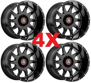 22x12 Gloss Black Wheels Rims 8x165 1 8x6 5 Asanti Tis Fuel Rbp