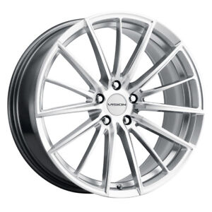 Vision 473 Axis 20x8 5 5x108 Offset 35 Hyper Silver Machined Face Qty Of 4