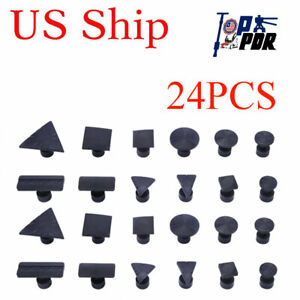 18x Puller Tabs Car Dent Repair Tool Pdr Paintless Removal For Slide Hammer Use