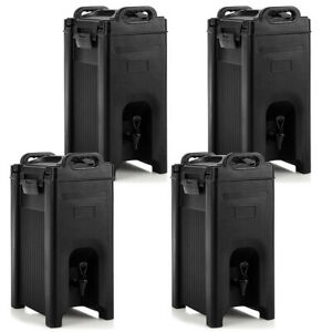 4 Pack Insulated Beverage Server dispenser 5 Gallon Hot Cold Drinks W Handles