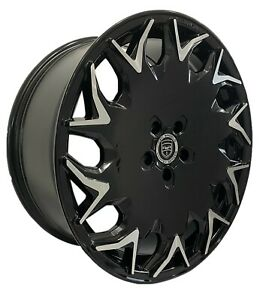 4 Gv06 20 Inch Staggered Black Rims Fits Ford Shelby Gt 500 2007 2020