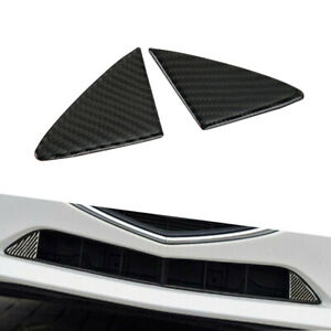 For Mazda 3 Axela 2014 2015 2016 Carbon Fiber Front Grille Grill Cover Trim 2pcs