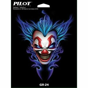 Pilot Automotive Clown With Blue Hair Car Sticker Decal 6 X8 Sheet Gr 24