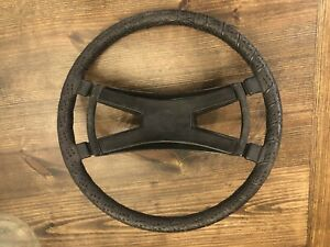 Porsche 914 4 1972 76 Factory Vdm Hard Rubber Ebonite Shaped Steering Wheel 1