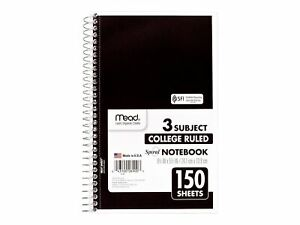 Mead Spiral 3 subject Notebook 6 X 9 5 06900ct