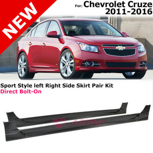 Sports Style Side Skirts Left Right Pair Kit For Chevrolet Cruze 2011 2016