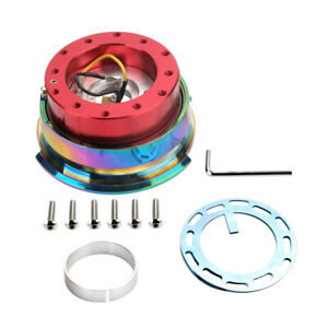 Diamond Cut Steering Wheel 6 Holes 2 0 Quick Release Adaptor Red Chrome Ring Us