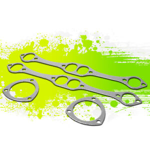 For 265 400 Sbc Small Block Chevy V8 Engine Exhaust Manifold Header Gasket Set