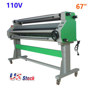 Us Stock 110v 67 Economical Full Auto Low Temp Wide Format Cold Laminator