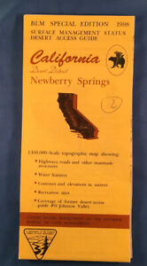 Usgs Blm Edition Topographic Map California Newberry Springs Desert District