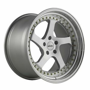 18x10 5 15 Whistler Sk5 5x114 3 Machined Face Wheels Set Of 4