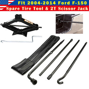 Repair Spare Tire Tool Scissor Jack Black Steel For Ford F150 2006 2007 2008