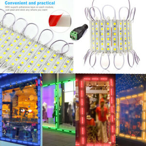 10 100 250ft 5054 Smd 6 Led Module Light Fairy Strip Waterproof 12v Letter Lamp
