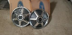 Vintage Ford Mustang Nos Factory C 5zz 1130 J Hubs Caps Wheels Covers 2 Pc New