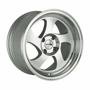 17x9 Whistler Kr1 5x100 25 Silver machined Face Wheels set Of 4