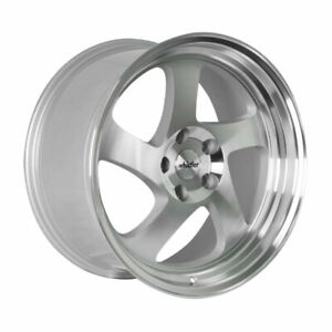 18x9 5 Whistler Kr1 5x100 35 Silver Machined Face Wheels Set Of 4