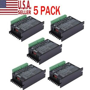 5pcs Motor Drivers Controller Single Cnc Axis 4a Tb6600 2 4 Phase Hybrid Stepper