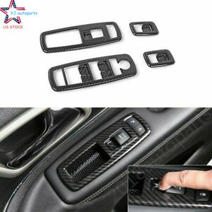 Carbon Fiber Abs Window Switch Panel Cover For Jeep Grand Cherokee 2014 2018